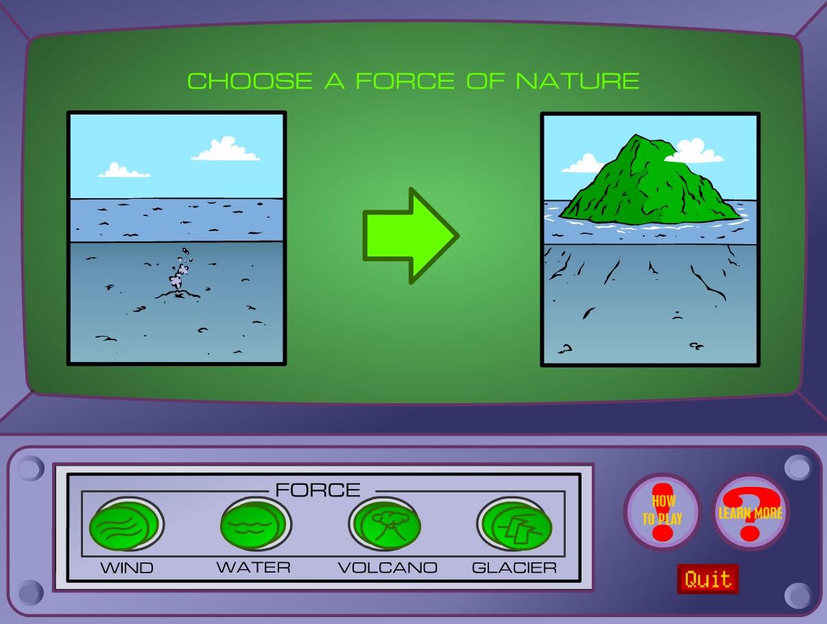 Imparare l'erosione geologica con un giochino
