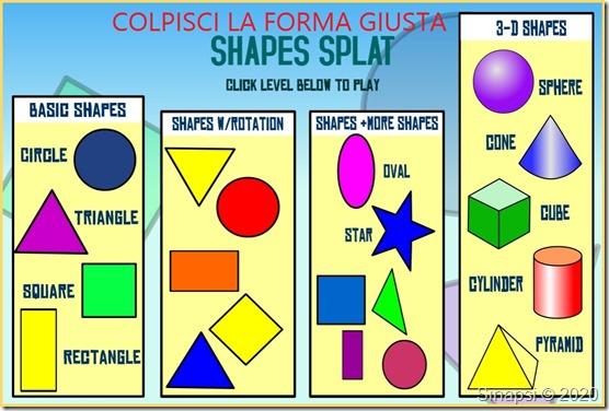 Riconosci cerchi, triangoli, cubi e piramidi